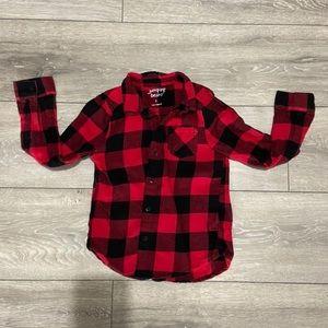 Boys buffalo print flannel Size 6